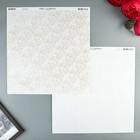 Бумага для скрапбукинга BoBunny - Коллекция «Double Dot» - лист «Lace Sugar»