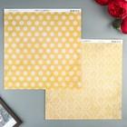 Бумага для скрапбукинга BoBunny - Коллекция «Double Dot» - лист «Sunflower»