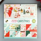Набор бумаги для скрапбукинга DCWV - Коллекция «Merry Mod Christmas» - 30.5х30.5 см