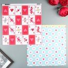 Бумага для скрапбукинга Pink Paislee -  Коллекция Lucky Us - Paper 9