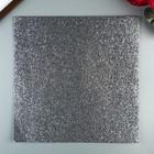 Глиттерный кардсток American Crafts - Charcoal