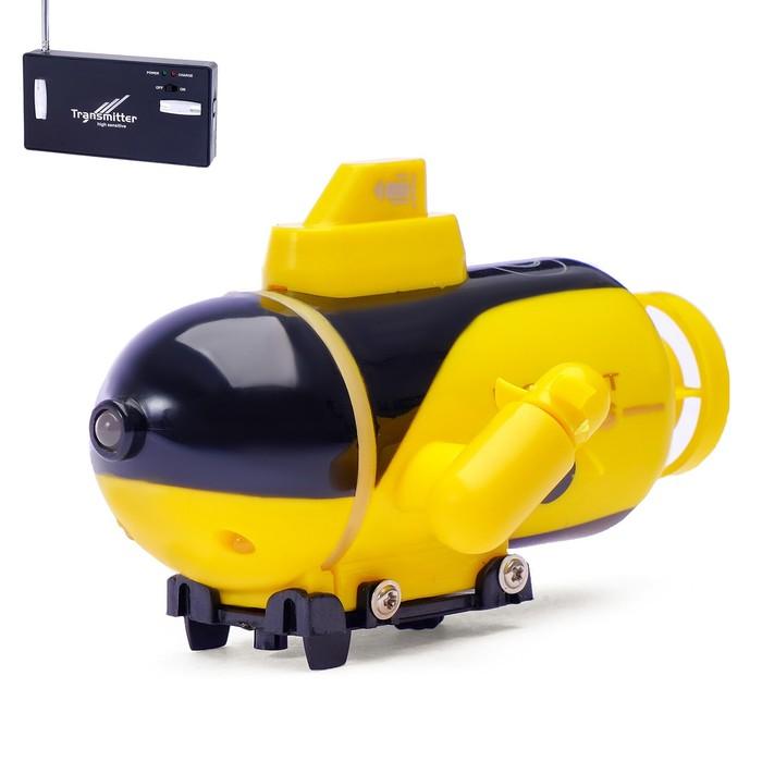 Подводная лодка радиоуправляемая Батискаф, световые эффекты, цвета МИКС