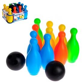 Набор боулинг: 10 кеглей + 2 шара, МИКС Ош