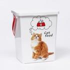 """Контейнер""""Кошки"""" для корма для кошек, 8,5 л"""