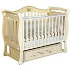 Детская кровать Oliver Daniella, автостенка, универсальный маятник, ящик, цвет слоновая кость