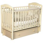 Детская кровать Oliver Elsa Premium, универсальный маятник, ящик, цвет слоновая кость