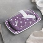 Маслёнка «Горошек», цвет бело-фиолетовый