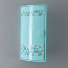 Полка для ванной угловая «Пирамида», цвет голубой
