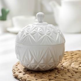 Сахарница с крышкой «Шарм», 350 мл, цвет белый