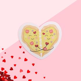 Открытка-валентинка 'Любовь' пицца, 7,1 x 6,1 см Ош