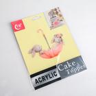 Топпер на торт «Кролики в зонтике» - Фото 4