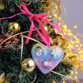 Кольца детские 'Выбражулька' 3шт, новогодние, форма МИКС, цветные Ош