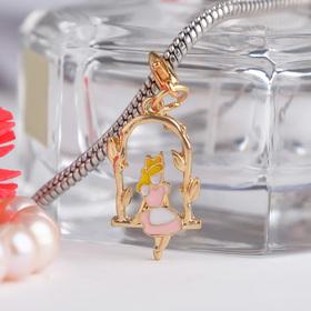 Шарм 'Дюймовочка', цвет бело-розовый в золоте Ош