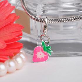 Шарм 'Клубника' сочная, цвет розово-зелёный в серебре Ош