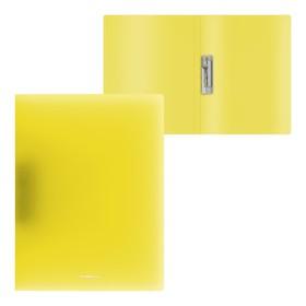 Папка с боковым зажимом А4, ErichKrause Neon, жёлтая Ош