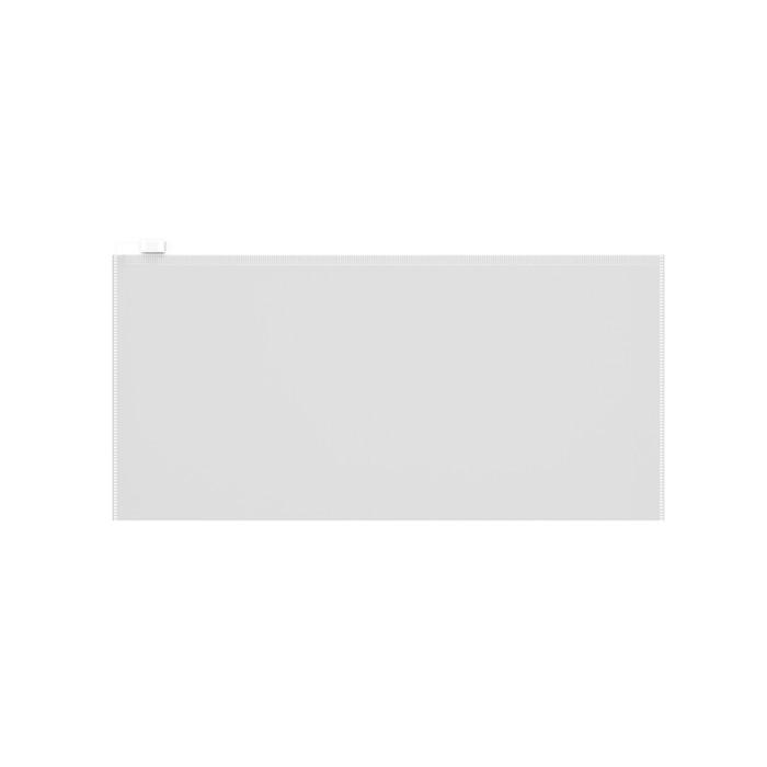 Папка-конверт на гибкой молнии ErichKrause Zip Fizzy Clear Travel, прозрачная