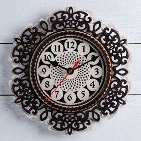 Часы, 24×24 см, 'Завитушки' МИКС Ош