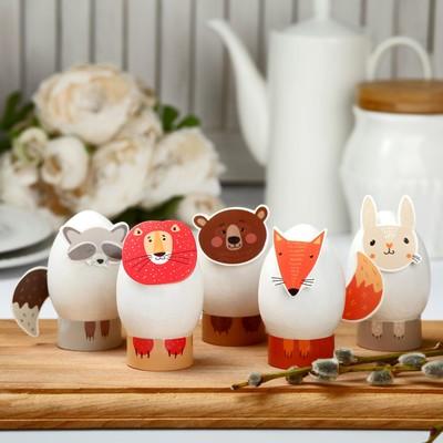 Пасхальный набор для украшения яиц «Зверята» - Фото 1