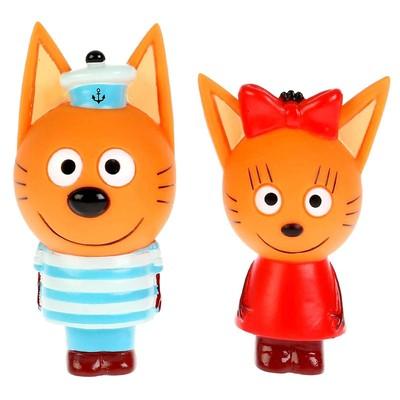 Игрушка для ванны «Три Кота. Карамелька и Коржик» - Фото 1
