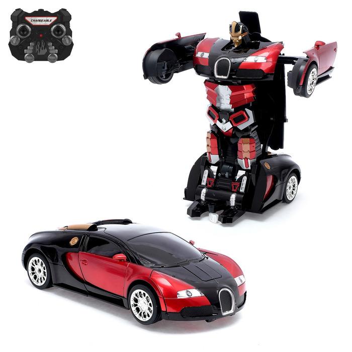 """Робот радиоуправляемый """"Автобот"""", трансформируется, с акб, заряд от USB, цвет красный"""