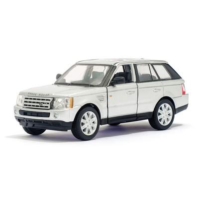 Машина металлическая Range Rover Sport, 1:38, открываются двери, инерция, цвет серый - Фото 1