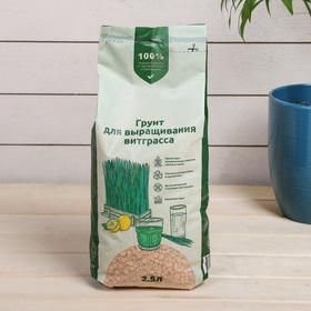 Субстрат минеральный цеолит 2.5 л, влагосберегающий для ростков пшеницы Витаграсс, ZEOFLORA Ош