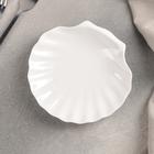 Блюдо сервировочное «Жемчуг», 14,5×14 см, цвет белый - Фото 1