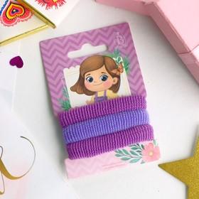 Резинка для волос 'Василиса' (набор 3 шт.) 5,5 см, фиолетовые оттенки Ош