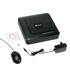Видеорегистратор мультигибрид Optimus AHDR-2004NE, AHD/TVI/CVI/IP, 1080 P, 4 канала Ош