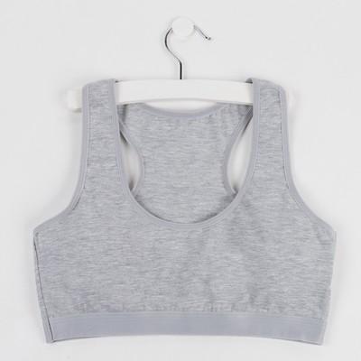 Топ для девочки, цвет серый, рост 140-146 см - Фото 1