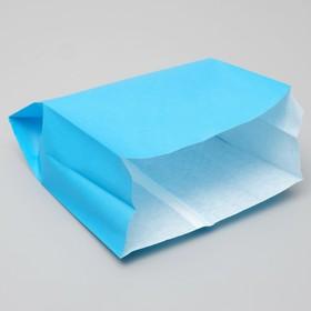 Пакет бумажный фасовочный, голубой,  V-образное дно, 23,9 х 20 х 9 см Ош
