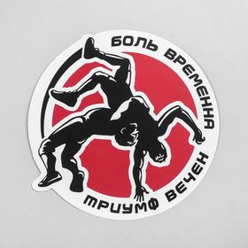 Наклейка на авто «Боль временна, триумф вечен» Ош