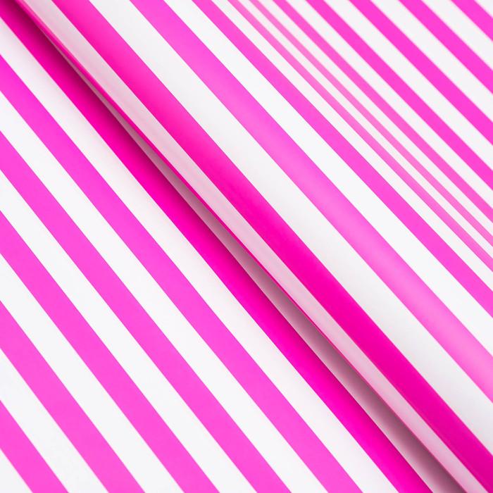 Бумага глянцевая, полоски, 49 х 70 см. пурпурная