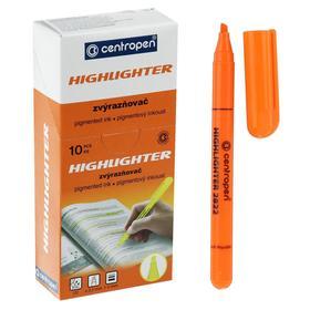 Маркер текстовыделитель 3.0 мм Centropen 2822, флуоресцентный оранжевый