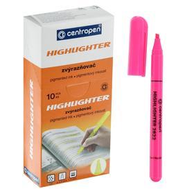 Маркер текстовыделитель 3.0 мм Centropen 2822, флуоресцентный розовый