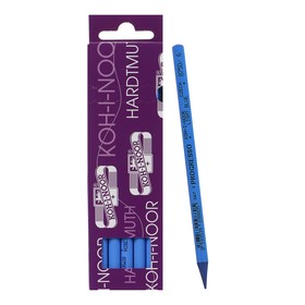 Карандаш цветной цельнографитовый Koh-I-Noor 8750/006 Progresso, в лаке, синий кобальт Ош