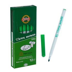 Маркер для ткани 3.0 мм Koh-I-Noor 3203/25, длина письма 500 м, зеленый Ош