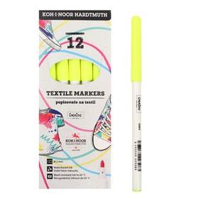 Маркер для ткани 3.0 мм Koh-I-Noor 3203/70, длина письма 500 м, флуоресцентный желтый Ош