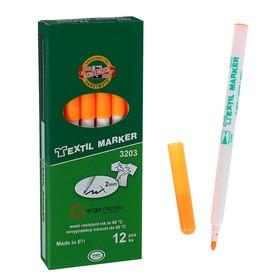 Маркер для ткани 3.0 мм Koh-I-Noor 3203/71, длина письма 500 м, флуоресцентный оранжевый Ош