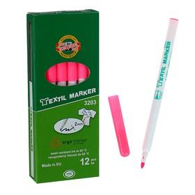 Маркер для ткани 3.0 мм Koh-I-Noor 3203/72, длина письма 500 м, флуоресцентный розовый Ош
