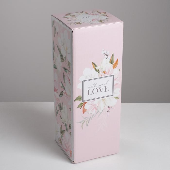 Коробка складная With love, 12 х 33,6 х 12 см