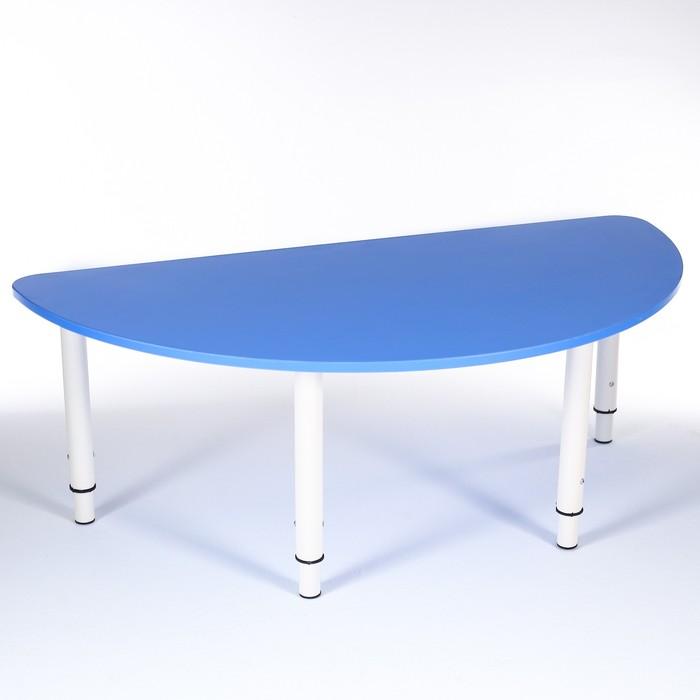 Стол Полукруг растущий гр.0-3 на металлокаркасе, Синий
