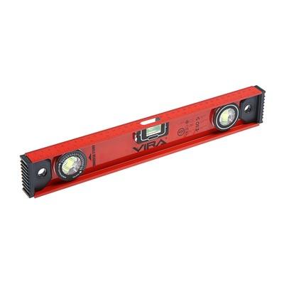 Уровень VIRA 100250, 400 мм, 3 глазка, поворотный глазок, магнитный