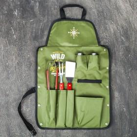 Фартук 'Wild Kitchen', зеленый, 63 х 43 см Ош