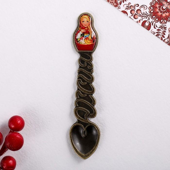 Ложка-матрёшка сувенирная Русские мотивы