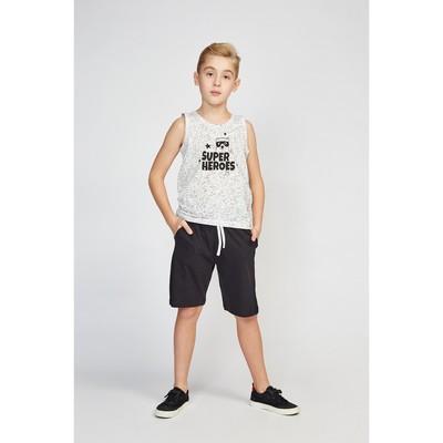 Шорты для мальчика, цвет чёрный, рост 122 (34)