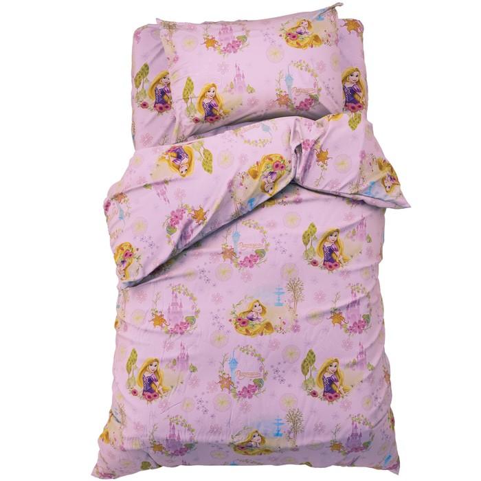 """Детское постельное бельё 1,5 сп """"Принцесса Рапунцель"""" 143*215 см, 150*214 см, 50*70 см -1 шт, 100% хлопок, поплин"""