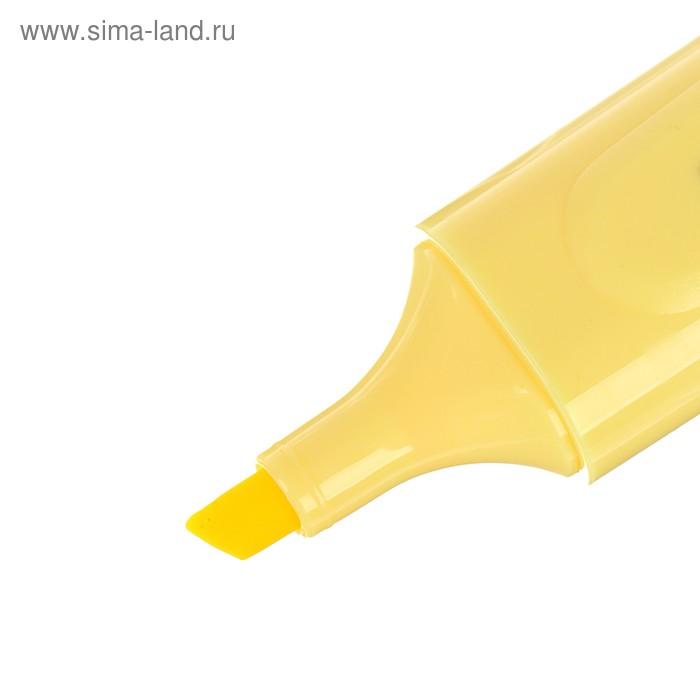 """Маркер текстовыделитель 1-5мм Luxor """"Pasteliter"""" пастельный желтый 4021P"""