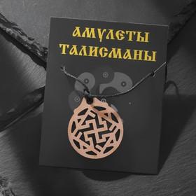 Амулет деревянный 'Валькирия', длина регулируется , длина 23см Ош