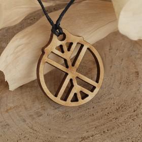 Амулет деревянный 'Древо жизни', длина регулируется , длина 23см Ош